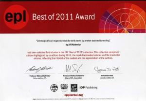 Kolovsky_Award2011